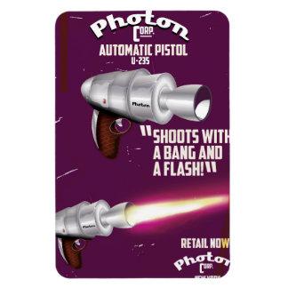 Photon vintage pistol science fiction poster rectangular photo magnet
