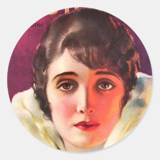 PHOTOPLAY ALICE JOYCE MARCH 1920.jpg Classic Round Sticker
