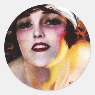 PHOTOPLAY GLORIA SWANSON JULY 1922.jpg Classic Round Sticker