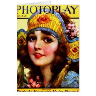 PHOTOPLAY MADGE BELLAMY AUGUST 1922.jpg Greeting Card