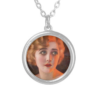 photoplay magazine cover pre 1923 round pendant necklace