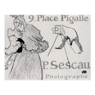 Photorapher Sescau by Toulouse-Lautrec Postcard