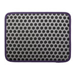 Photorealistic metal grill dot pattern close up MacBook pro sleeve
