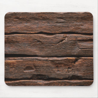 "Photorealistic Weathered ""Log Cabin"" Wood Mouse Pad"