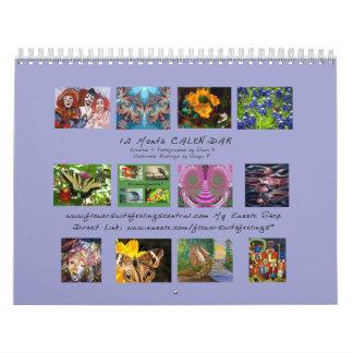 Photos, Fractals & Watercolors Wall Calendar