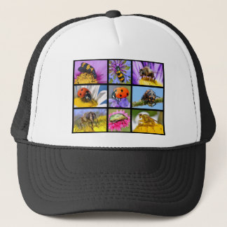 Photos mosaic of insects trucker hat