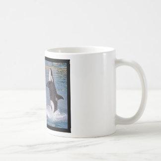 Photos mosaic of killer whales coffee mug