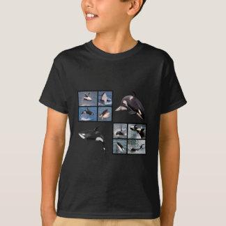 Photos mosaic of killer whales T-Shirt