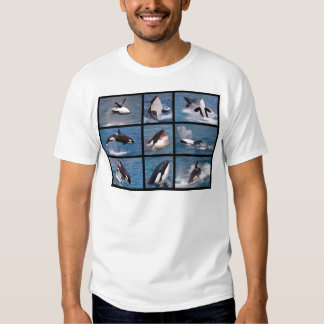 Photos mosaic of killer whales tee shirt