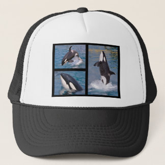 Photos mosaic of killer whales trucker hat