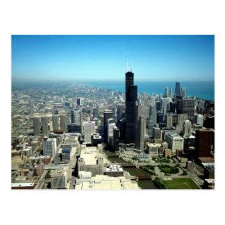 Photos of Chicago: Aerial view skyline Postcard