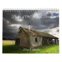 Photos of Old Vintage Barns Calendar