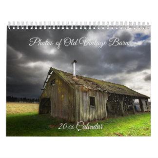 Photos of Old Vintage Barns Calendar