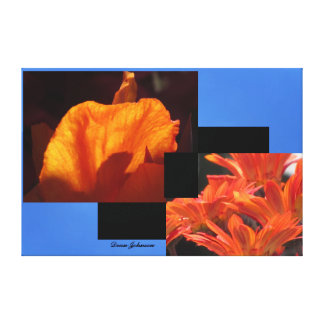 Photos on Canvas - Orange Flowers Gallery Wrapped Canvas