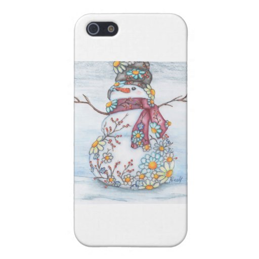 photoscape snowman iPhone 5 case