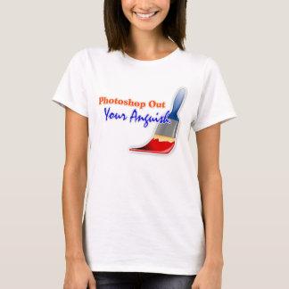"""""""Photoshop hacia fuera camiseta de las señoras de"""