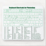 "Photoshop Keyboard Shortcuts Mousepad<br><div class=""desc"">Keyboard Shortcuts for Photoshop. This is fantastic for classes and beginners.</div>"