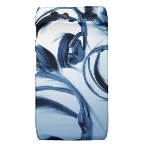 Photoshop Painting (Headphones-Blue) Motorola Droid RAZR Covers