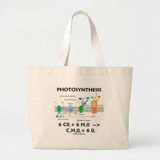 Photosynthesis (Carbon Dioxide + Water) Large Tote Bag