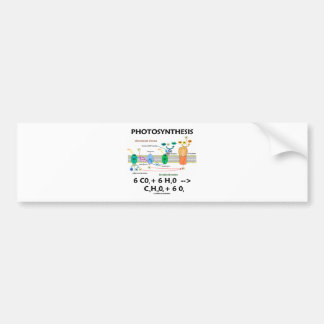 Photosynthesis (Chemical) Formula Bumper Sticker