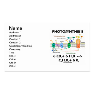 Photosynthesis (Chemical Formula) Double-Sided Standard Business Cards (Pack Of 100)
