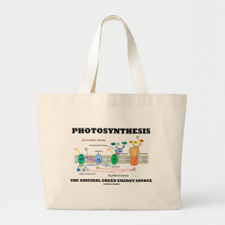 Photosynthesis The Original Green Energy Source Large Tote Bag