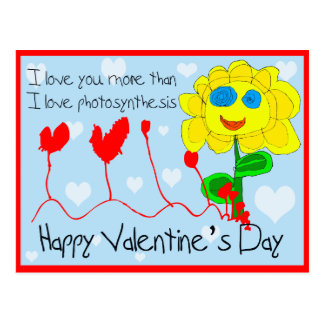 Photosynthesis Valentine's Day Post Card