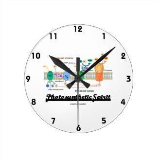 Photosynthetic Spirit (Biochemistry Attitude) Round Wallclock
