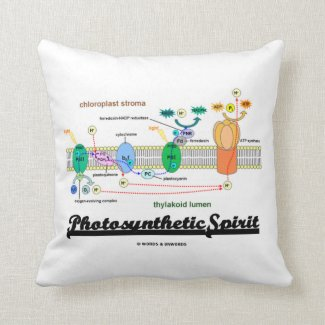 Photosynthetic Spirit (Biochemistry Attitude) Throw Pillows