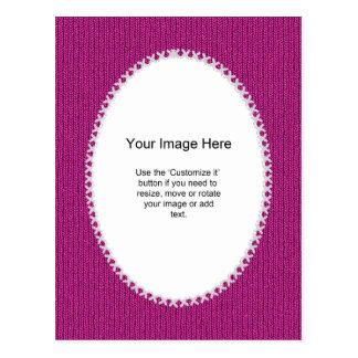 PhotoTemplate - Fuchsia Knit Stockinette Stitch Postcard