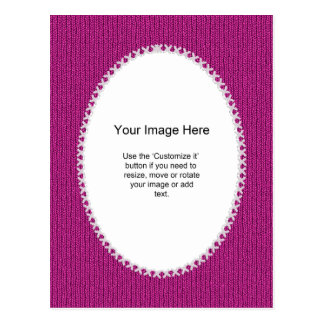 PhotoTemplate - Fuchsia Knit Stockinette Stitch Postcard