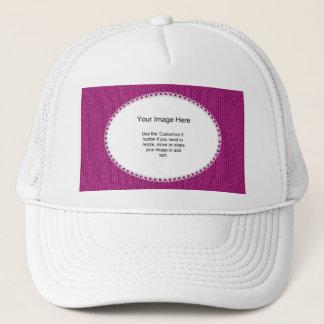 PhotoTemplate - Fuchsia Knit Stockinette Stitch Trucker Hat