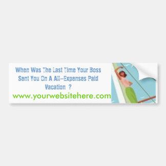 PhotoText Sticker - Customized Car Bumper Sticker