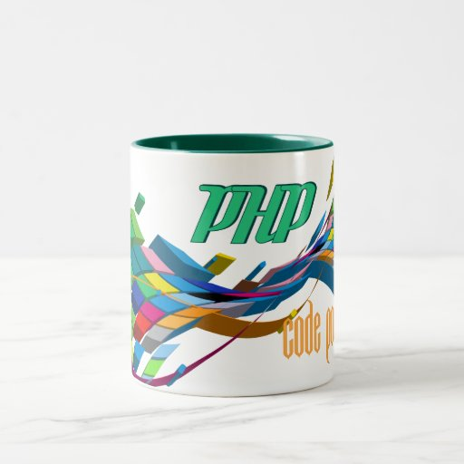 PHP arco doble multicolor Tazas