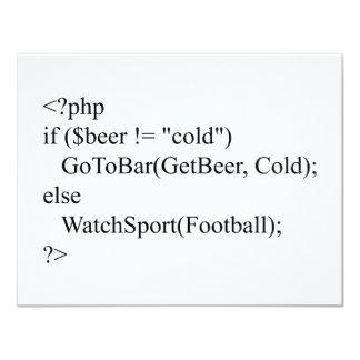 php & beer card