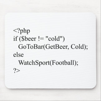 php & beer mouse pad