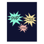 PHP CSS HTML POSTCARDS