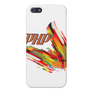 PHP- Multicolor Code Swirl Covers For iPhone 5