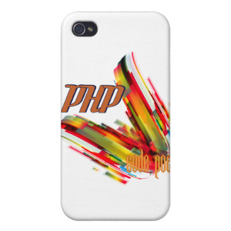 PHP- Multicolor Code Swirl iPhone 4 Covers