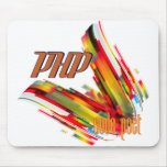 PHP- Multicolor Code Swirl Mouse Pad