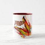 PHP- Multicolor Code Swirl Mugs