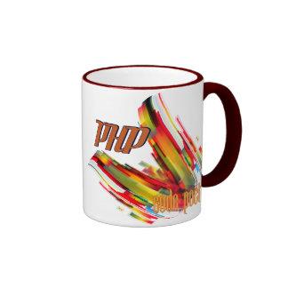 PHP- Multicolor Code Swirl Ringer Mug