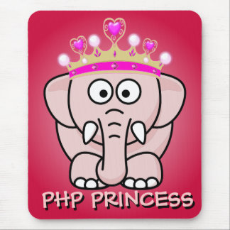 PHP Princess: Women in Open Source Web Development Mouse Pad