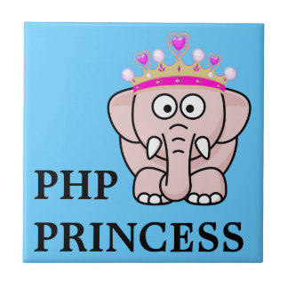 PHP Princess: Women in Open Source Web Development Small Square Tile