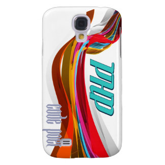 PHP- Red Orange Gray Smooth wave Galaxy S4 Cover