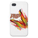 PHP remolino multicolor del código iPhone 4 Protector