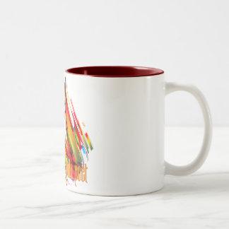 PHP remolino multicolor del código Tazas De Café