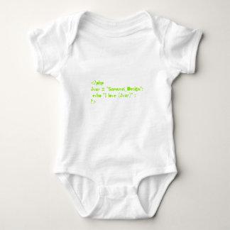 php script of Programming language Baby Bodysuit