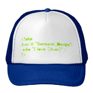 php script of Programming language Trucker Hat