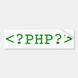 PHP Tags Bumper Sticker